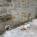 Telescopic air vents installed into the stone wall