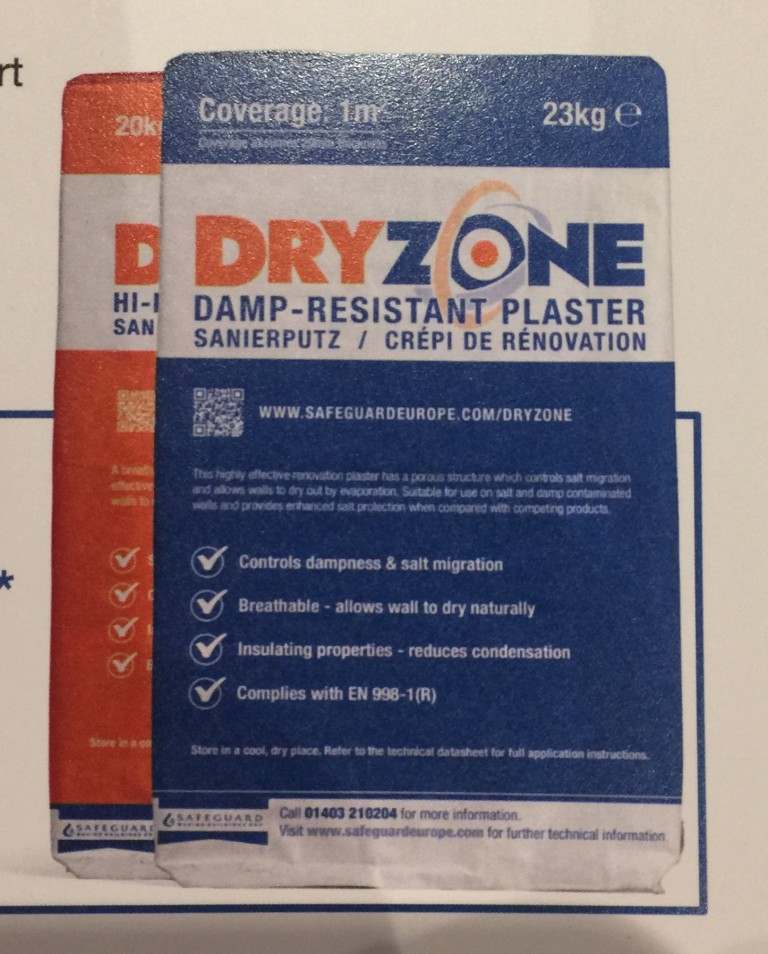 Dryzone Damp Resistant Plaster With All Dry