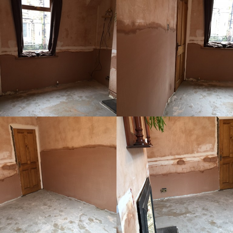 Dryzone Damp Resistant Plaster used on our job in Barnsley, South Yorkshire